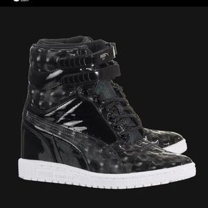 Puma Sky Wedge Opulence black sneaker shoe size 8